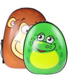 ONDIS24 Kinderrucksack Set Löwe & Frosch