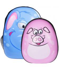 ONDIS24 Kinderrucksack Set Elefant & Schwein