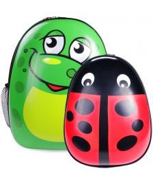 ONDIS24 Kinderrucksack Set Frosch & Marienkäfer