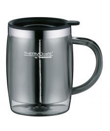 ONDIS24 ThermoCafé by, Bürotasse Desktop Mug, Kunststoff Grau 0,35 l