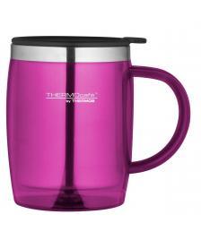 ONDIS24 ThermoCafé by, Bürotasse Desktop Mug, Kunststoff Pink 0,35 l