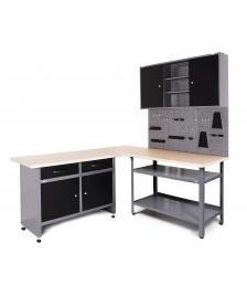 ONDIS24 Werkstatt Set Ecklösung Basic One 85 cm anthrazit