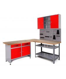 ONDIS24 Werkstatt Set Ecklösung Basic One 85 cm rot