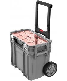ONDIS24 Keter Connect Werkzeugwagen und Sortimentskasten Grau