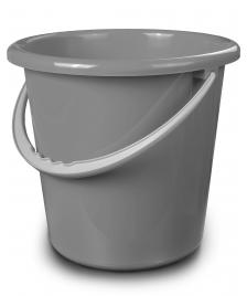ONDIS24 Eimer mit Kunststoffbügel grau 10 Liter