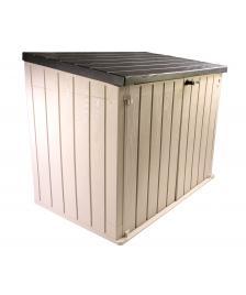 ONDIS24 Gartenbox Mülltonnenbox Storer PLUS 2XL taupegrau/anthrazit