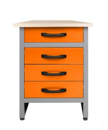 ONDIS24 Werkbank Bernd 60 cm orange H85