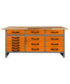 ONDIS24 Werkbank Konny 160 cm orange H85