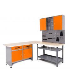 ONDIS24 Werkstatt Set Ecklösung Basic One 85 cm orange