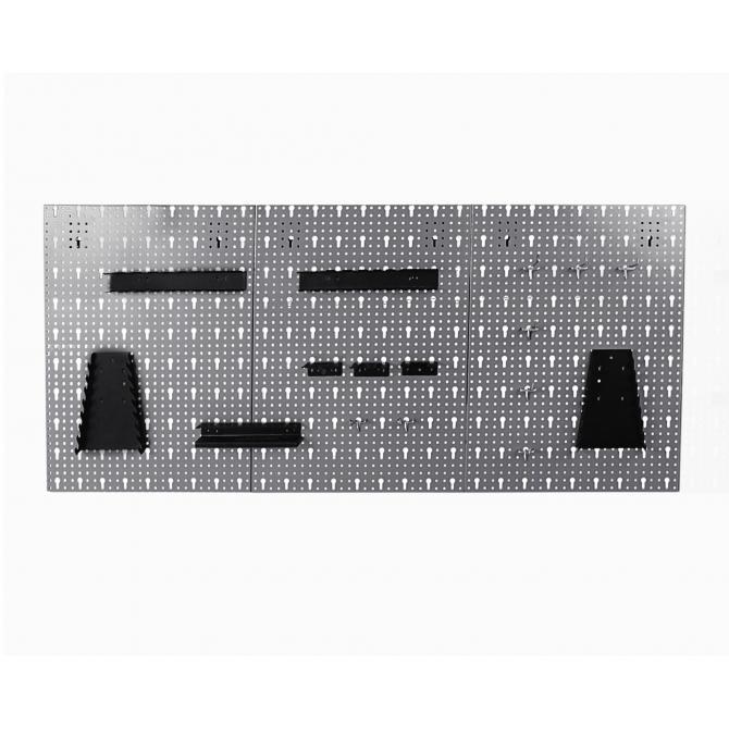 ONDIS24 Lochwand mit Metall Haken grau