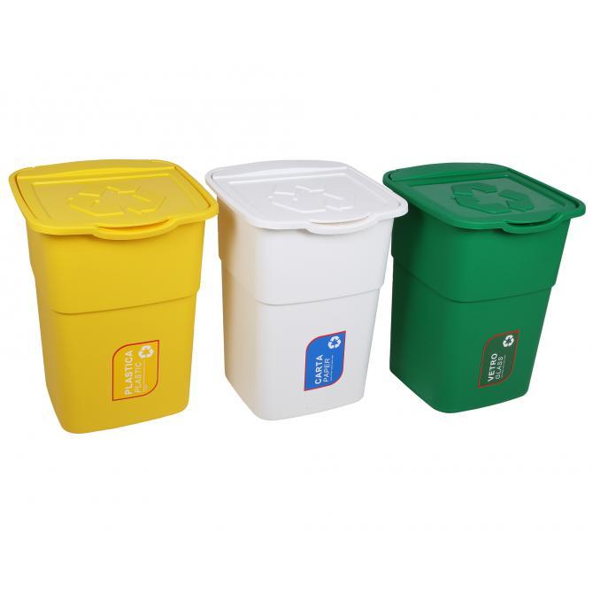 ONDIS24 Abfallsammler Mülleimer Eco 3