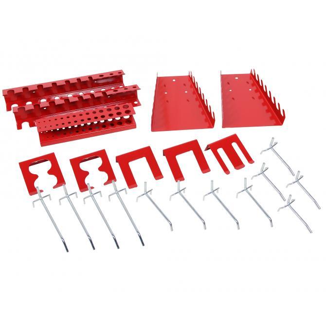 ONDIS24 Lochwandhaken aus Metall 22 Teile rot