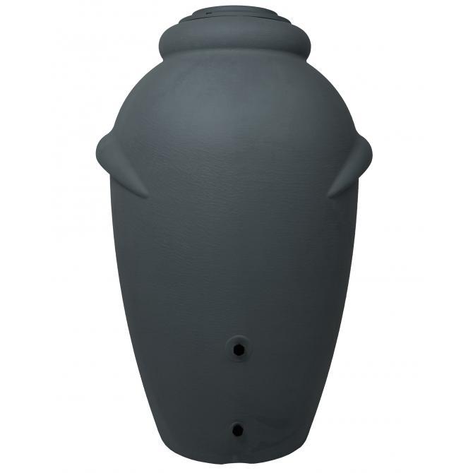 ONDIS24 Regentonne Wasserbehälter Amphore Anthrazit 360L Kunst