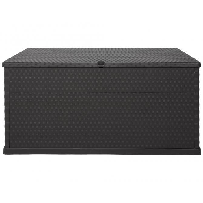 ONDIS24 Kissenbox Auflagenbox Rattan anthrazit