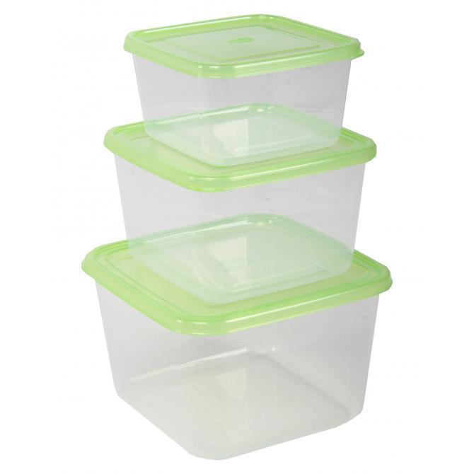 ONDIS24 Frischhaltedosen-Set 1-2-3 Liter grün