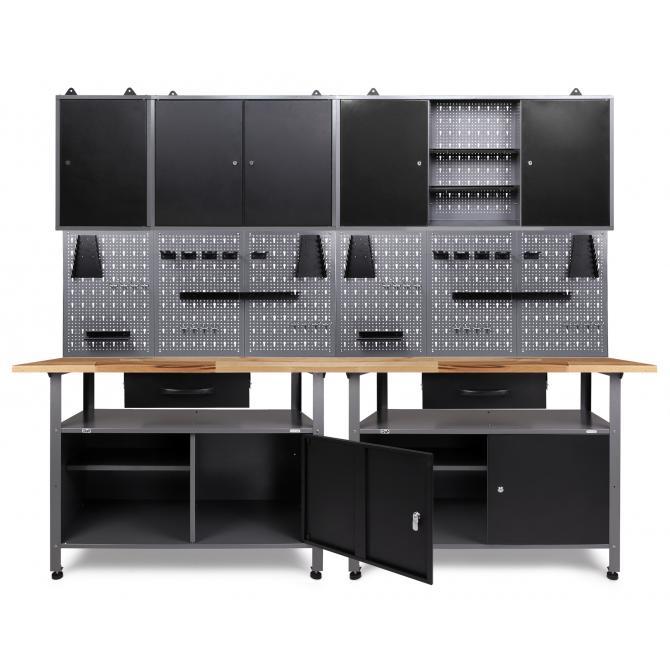 ONDIS24 Werkstatt Set Klaus 240 cm 3 Schränke
