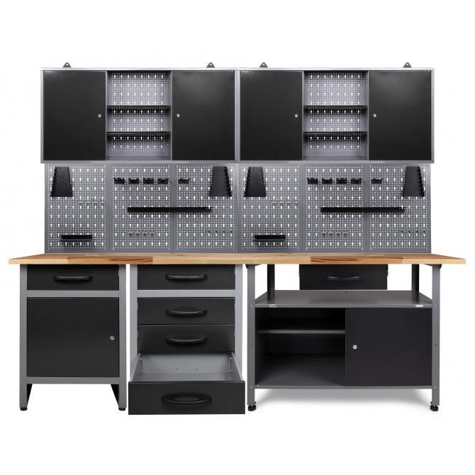 ONDIS24 Werkstatt Set Tüftler 240 cm 2 Schränke