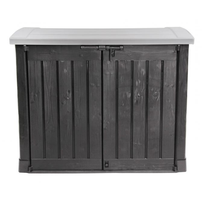 ondis24 keter m lltonnebox ger teschuppen gartenbox arc anthrazit g nstig online kaufen. Black Bedroom Furniture Sets. Home Design Ideas