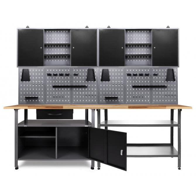 Ondis24 Werkstatt Set Erfinder 240 cm 2 Schränke günstig online kaufen