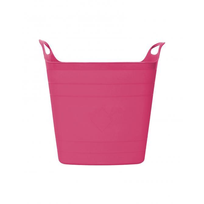 ONDIS24 Wäschekorb Wäschesammler Flexi Tub 15 L pink