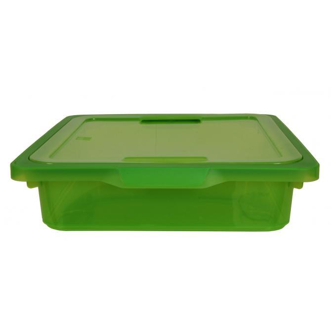 ONDIS24 Kreo Box  mit Deckel 7.5 Liter grün transparent