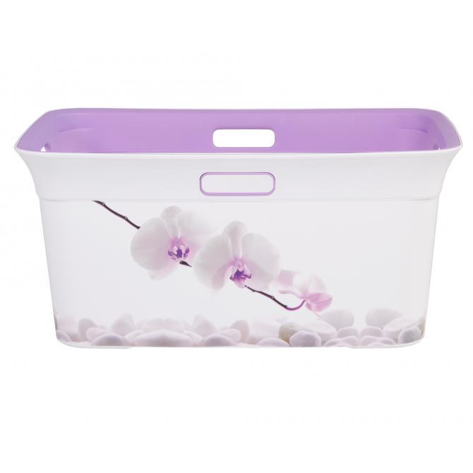 ONDIS24 Wäschekorb Tragekorb Moda Orchidee 45 L