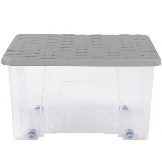 ONDIS24 Unterbettbox mit Rollen Rattan 15 L