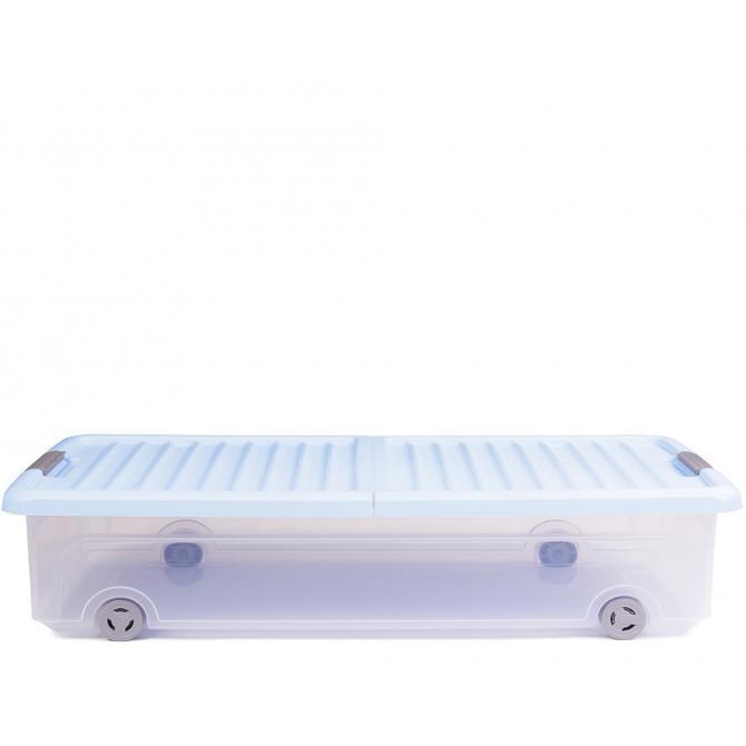 ONDIS24 Unterbettbox Rollerbox 35 W Hellblau