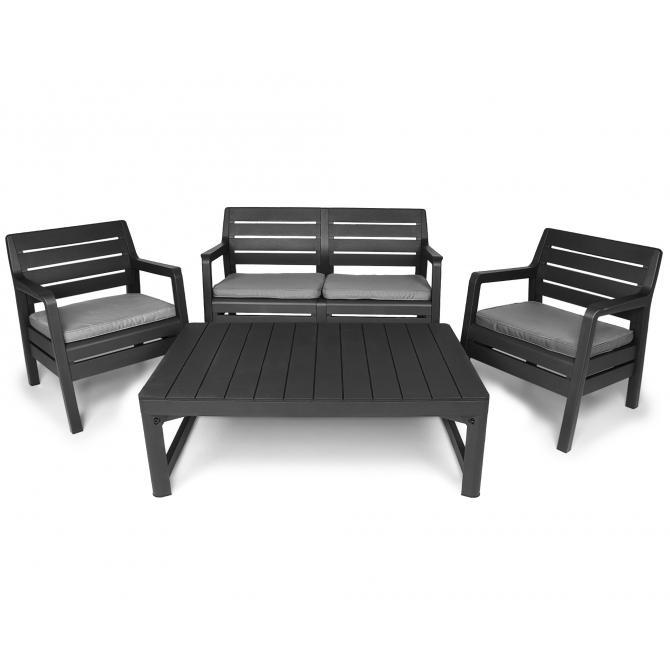 Ondis24 Delano Loungemöbel mit Sitzbank und Tisch günstig online kaufen