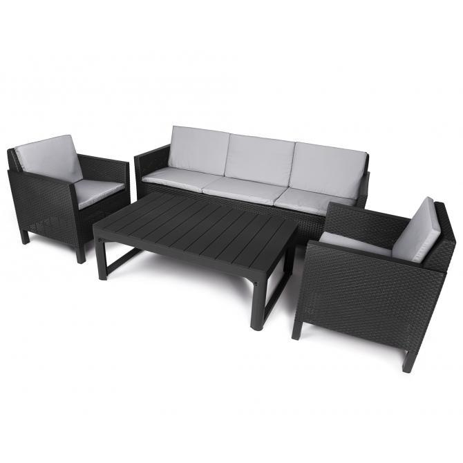 Ondis24 Chicago Loungemöbel 5 Sitze mit Tisch Lyon günstig online kaufen