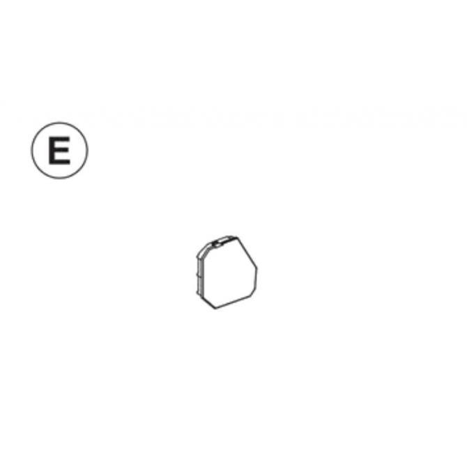 Teil E (Abdeckkappe Seitenteil links)