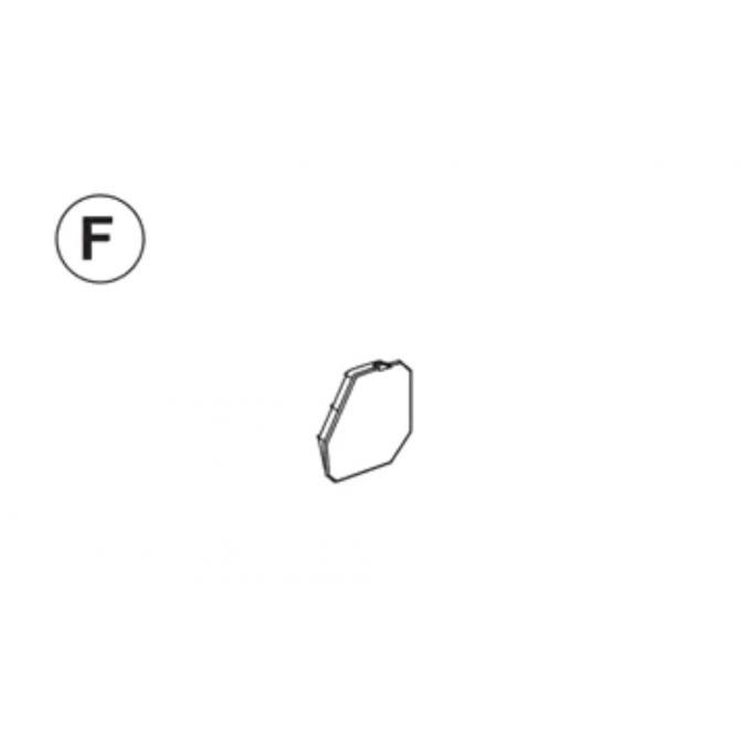 Teil F (Abdeckkappe Seitenteil rechts)