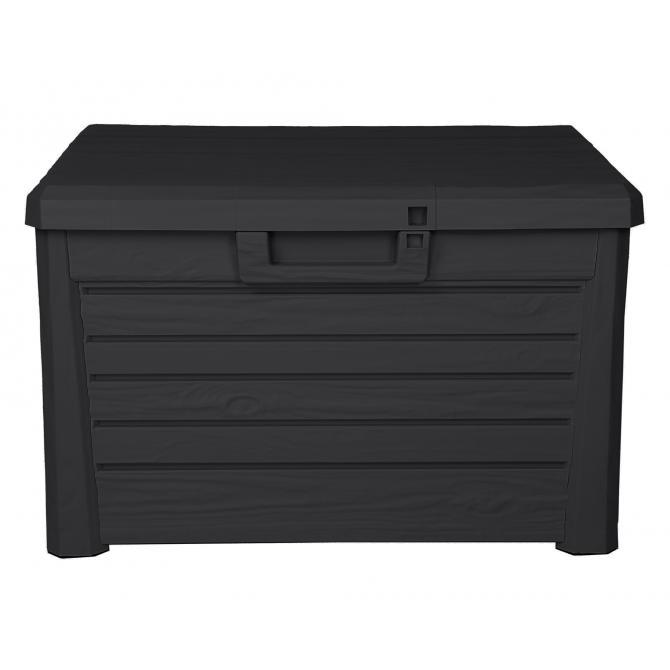 ONDIS24 Kissenbox Sitztruhe Florida kompakt 120 L anthrazit