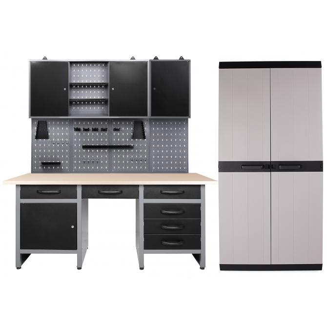 ONDIS24 Werkstatt Harry 2 Schränke offen + MEGA XL Schrank