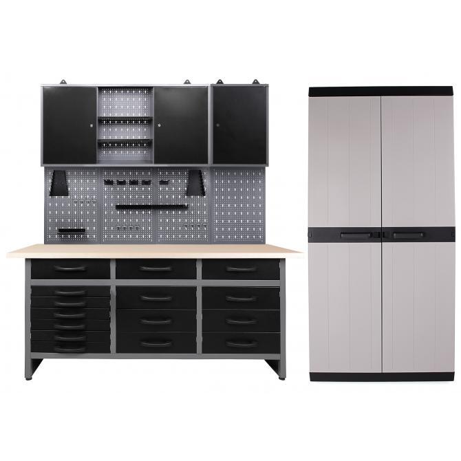 ONDIS24 Werkstatt Konny 2 Schränke offen + Comfort XL Schrank