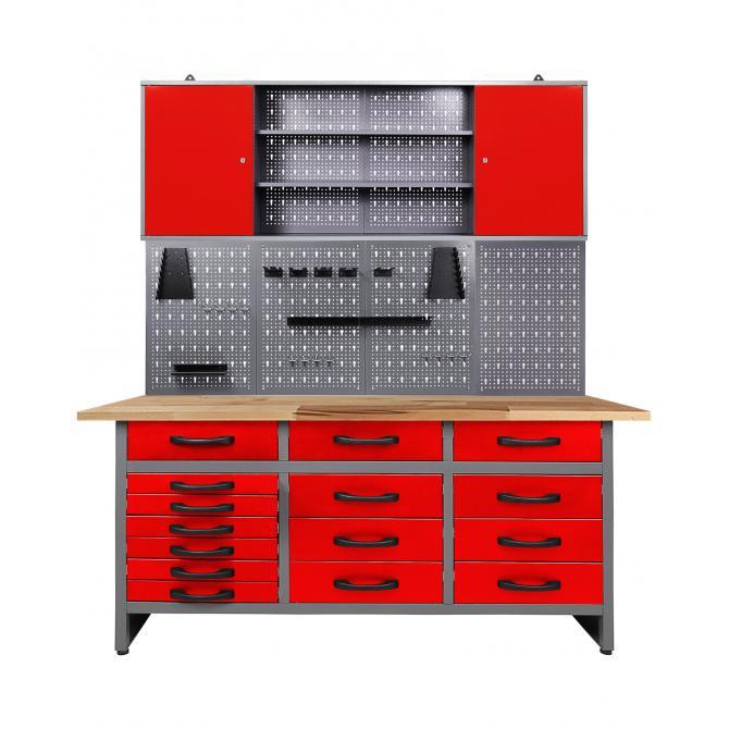 ONDIS24 Werkstatt Set Konny 160 cm 1 Schrank rot