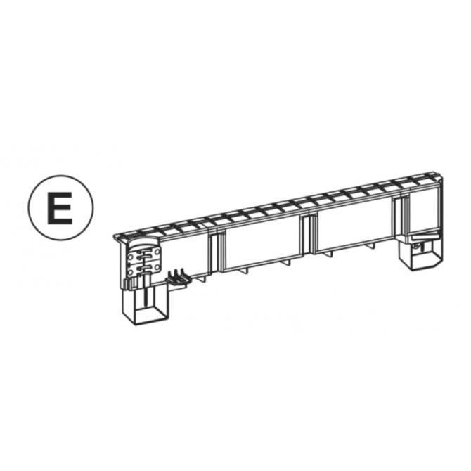Teil E (Abdeckung Türteil rechts) anthrazit