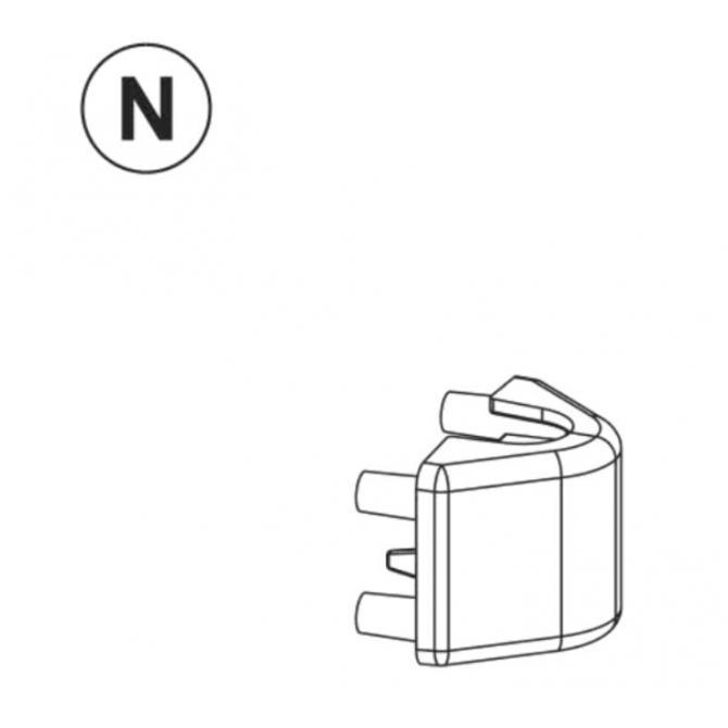 Teil N (Anbringung Verschlussriegel) anthrazit