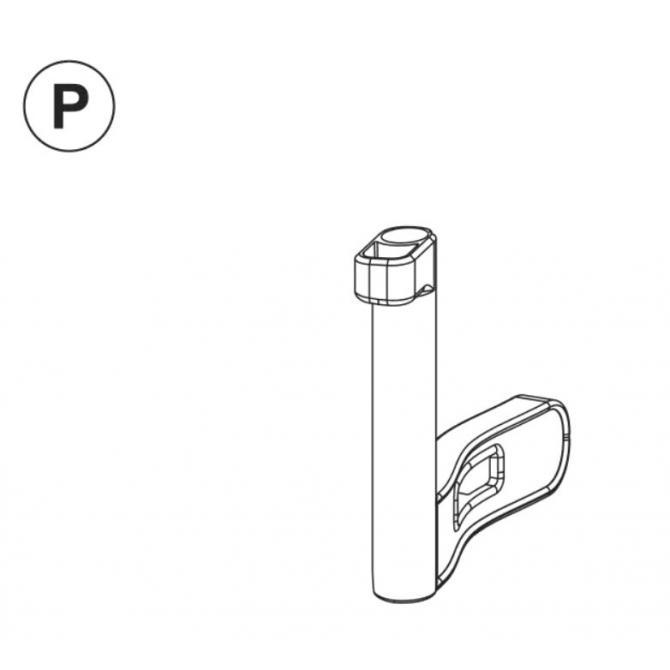 Teil P (Verschlussriegel) grau