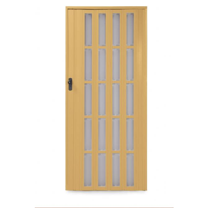 Falttür mit Fenster Ayto 84 cm hellbraun
