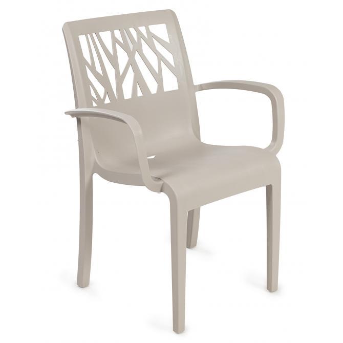 ONDIS24 Gartenstuhl Sessel Vegetal leinen