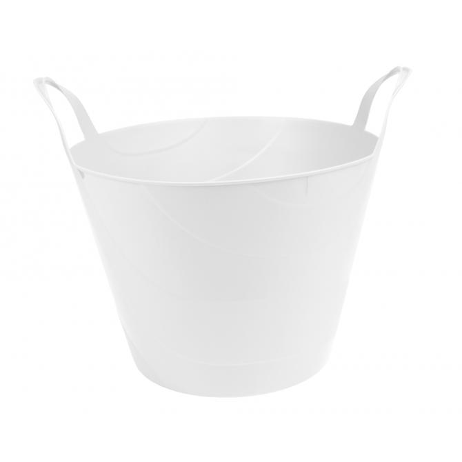 ONDIS24 Kleiderkorb Wäschekorb Flexi Tub Billy 45 L weiß