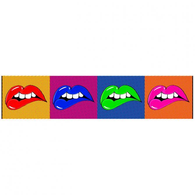 ONDIS24 Wandbild Dekorahmen Lip's Wow'Roll