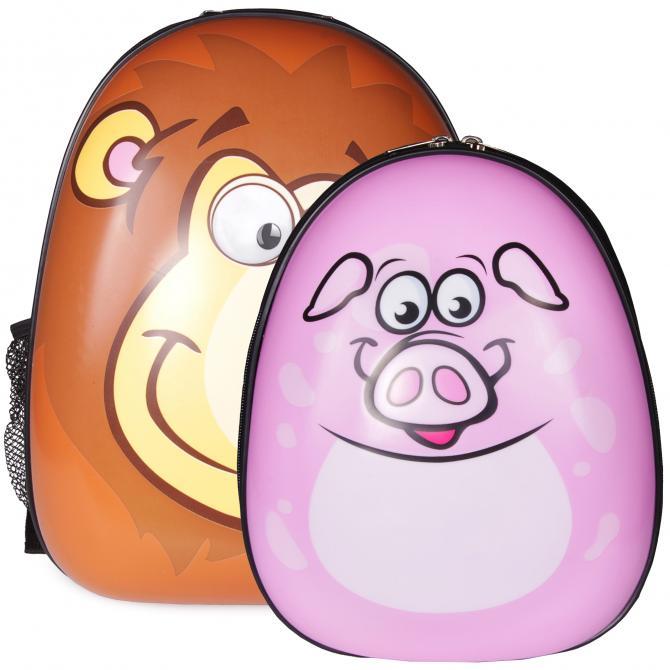 ONDIS24 Kinderrucksack Set Löwe & Schwein