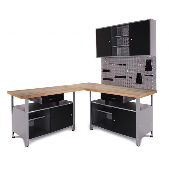 ONDIS24 Werkstatt Set Ecklösung Classic One anthrazit