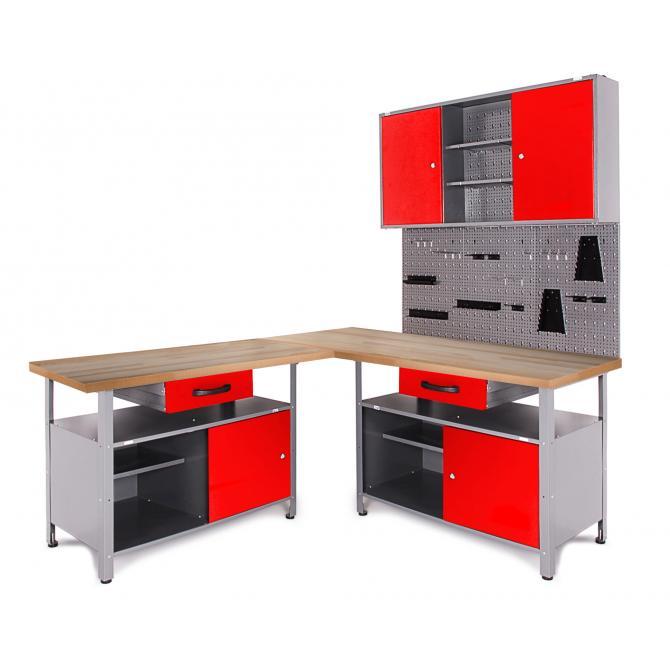 ONDIS24 Werkstatt Set Ecklösung Classic One rot