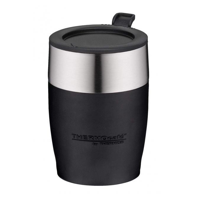 ThermoCafé by, Thermostasse, Edelstahl, schwarz 0,25 l