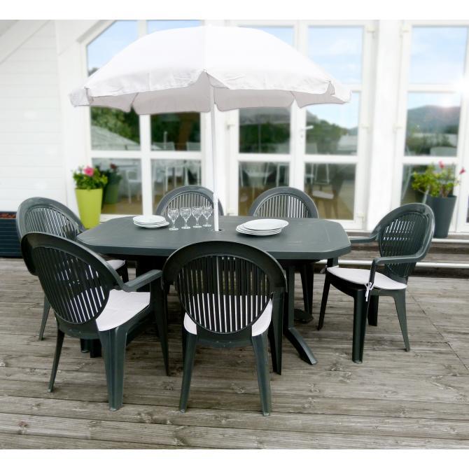 ONDIS24 Gartengarnitur Vega 6 Personen Gartenmöbel Set
