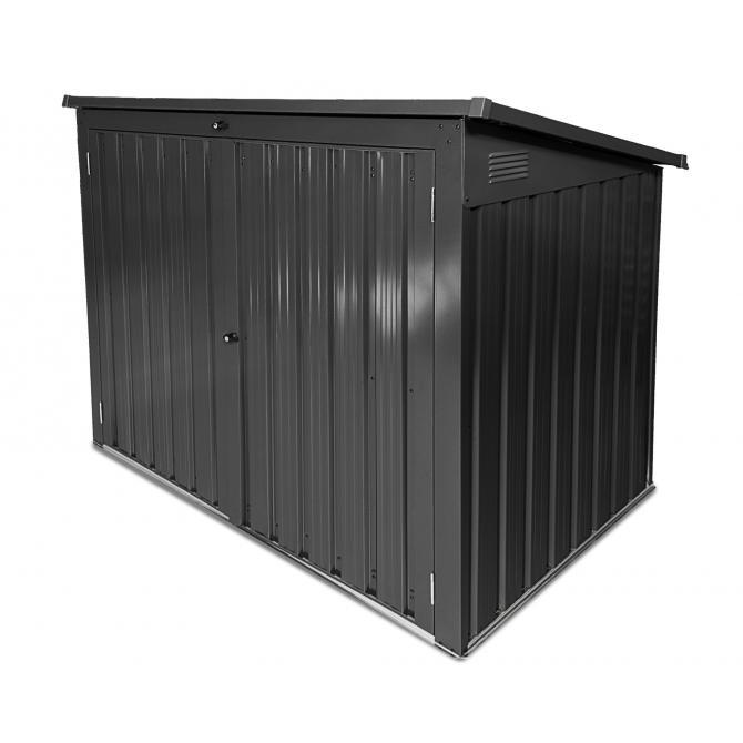 ONDIS24 Mülltonnenbox 1,4m² Gartenbox 2 x 240L Metall Geräteschuppen