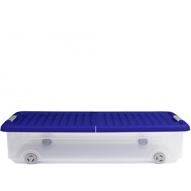ONDIS24 Unterbettbox Rollerbox 35 W Dunkelblau
